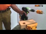 CMT hole saw 550 on solid brick